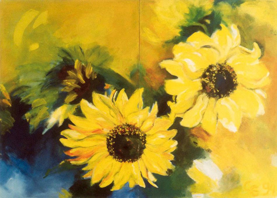 Sonnenblume VI 1995Acryl, Leinwand – 130 x 200 cm
