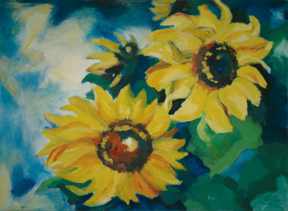 Sonnenblume V 1994Acryl, Leinwand – 130 x 180 cm