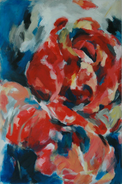 Rose 1983Acryl, Leinwand 150 x 100 cm