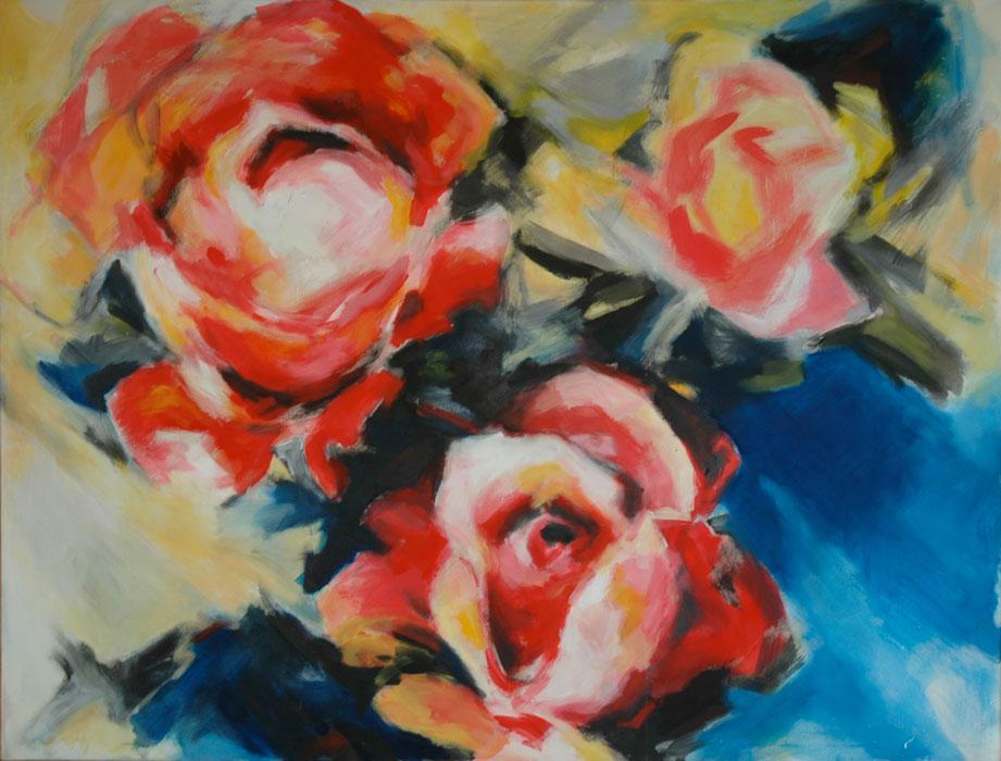 Drei Rosen 1983Acryl, Leinwand – 150 x 200 cm