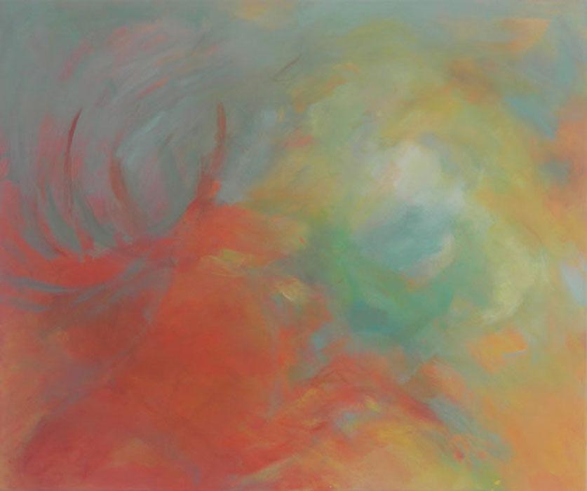 Hirsch 2007Acryl, Mischtechnik, Leinwand – 100 x 120 cm
