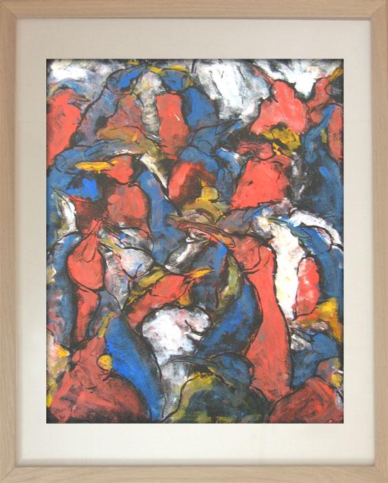 Pinguin Kolonie Nr. 6 2003Linoldruck, Karton – 60 x 50 cm