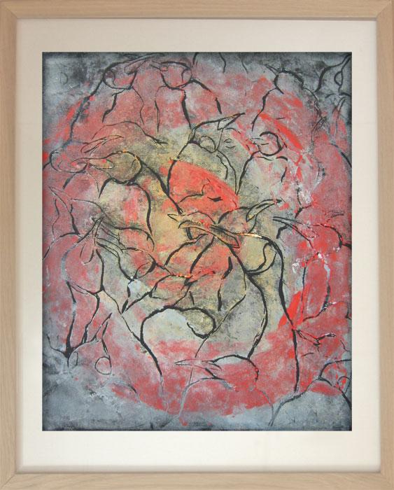 Pinguin Kolonie Nr. 3 2003Linoldruck, Papier – 49 x 41 cm