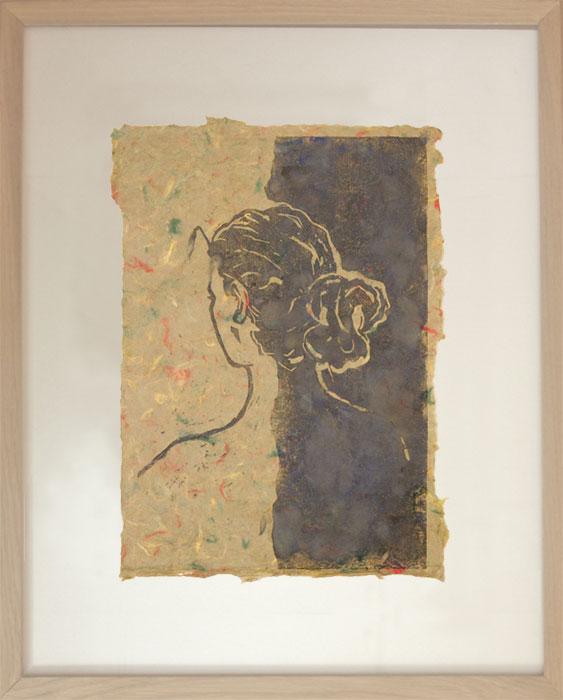 Lisa VIl 2003Linoldruck, Büttenpapier – 31 x 22 cm