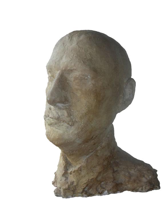 Georg 1978 – UnikatGips, bemalt – 44 x 35 x 29 cm