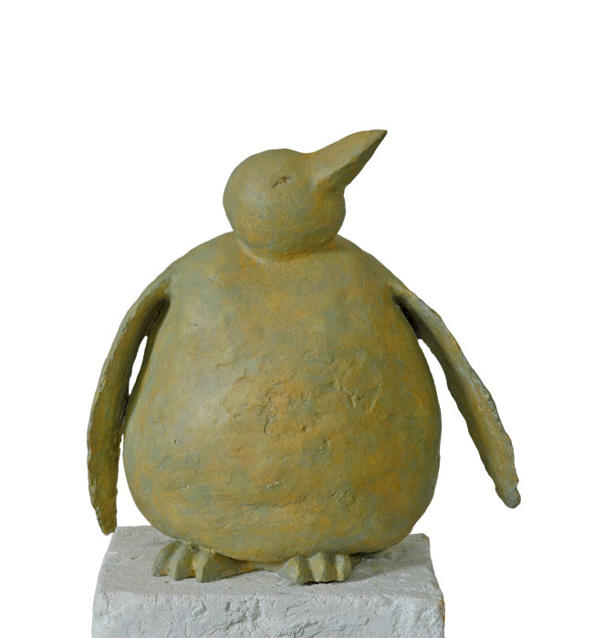 Pinguin III 2002 – GipsmodellPinguin III – Gips, farbig gefasst – 51 x 56 x 31 cm