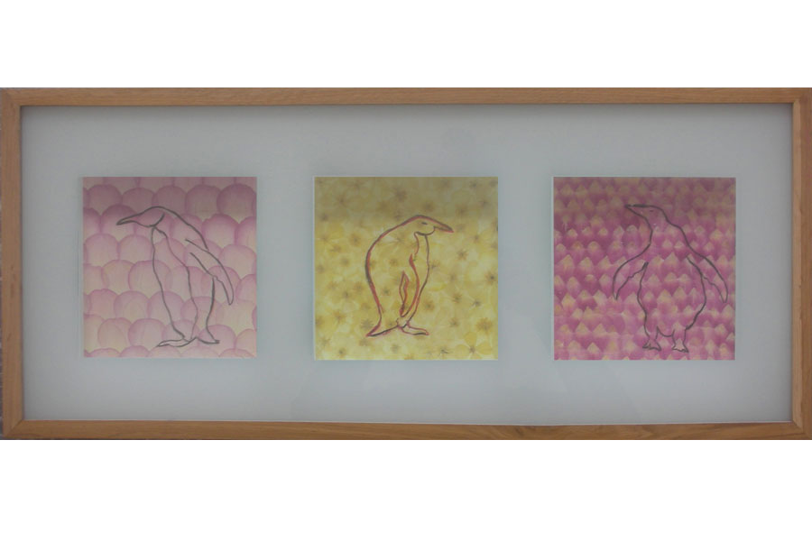 Blossom II – 2003IKEA Rahmen, Fotos bemalt – 31 x 71 x 3 cm